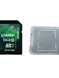 Kingston Digital 16 GB Class 10 SD Memory Card  And The Memory Card Box