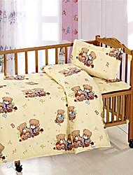 Designer Cotton Beige Bear Baby Bedding Set