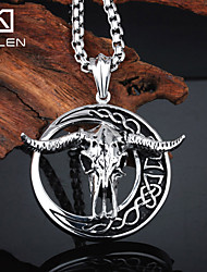 Kalen Men's Jewelry Stainless Steel Unique Animal Cow Horn Jewelry