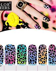 14pcs pro-omgeving vol nail art stickers