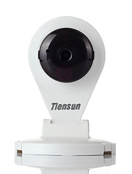 Tiensun 720P H.264 Wireless Network  Camera Indoor security IP Camera w/Night Version-White