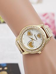 señoras relojes de venta de las mujeres del cuarzo del diamante de aleación de relojes suizos reloj de acero de la moda