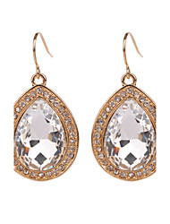 Big Water Drop Women Earrings Fashion Clear Rhinestone Gold/Silver Colors Dangle Earrings Jewelry