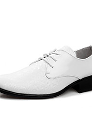 Men's Shoes Casual Leather Oxfords White/Black
