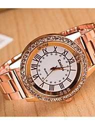 Women's Watches Trends in Europe And America Rome Digital Alloy Diamond Quartz Watch