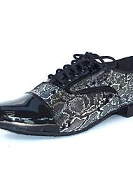 Chaussures de danse(Noir) -PersonnalisablesSimilicuir-Latine Salsa Salon