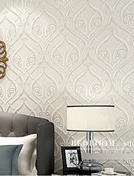 papier peint rétro géométrique abstrait conçoit crémeuse mur blanc couvrant l'art non-tissé mur de papier