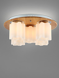 Wooden Ceiling Lamp Fixture Vintage Bar Counter American Brief Child Modern Lamp Wood Ceiling Light