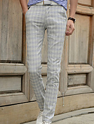 Men's Casual/Work Striped Chinos Pants (Cotton/Microfiber)