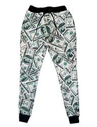 2015 neue Mode für Männer / Frauen emoji Jogger Hosen 3d us-Dollar zu drucken Trainingshose Herbst / Winter jogging Jogginghose
