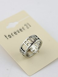 Personalized White Gold Hollow Rings*1pc