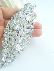 Wedding Accessories Silver-tone Clear Rhinestone Crystal Bridal Brooch Wedding Deco Wedding Brooch Bridal Bouquet