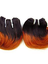 """1 porción de las PC 8 """"pelo virginal ombre # 350 extensiones brasileñas del pelo humano brasileño manojos nuevo estilo"""