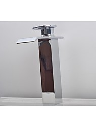 Contemporary Fashionable One Hole  Waterfall Bathroom Sink Faucet
