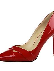 Women's Shoes Stiletto Heel Heels / Pointed Toe / Closed Toe Heels Dress Black / Pink / Red / Orange / Burgundy