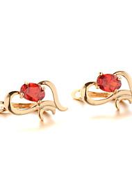 Sjeweler Female Fashion Gold-Plated Zircon Pendant Earrings