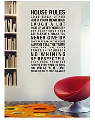 reglas de la casa armonía en esta casa cotización etiqueta de la pared zy8010 adesivo de parede etiqueta de la pared de vinilo removible