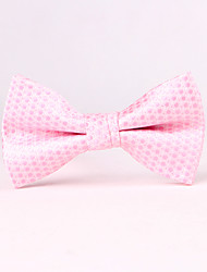 The Man's Bow Ties Pink Wave Point