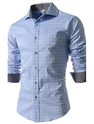 G.M Men's Casual Shirt Collar Long Sleeve Casual Shirts