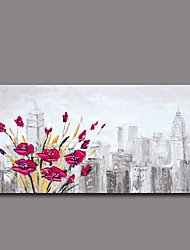 Floral/Botanical Oil Painting Hand-Painted Wall Art Other Artists Hand-Painted Oil Painting8208-1