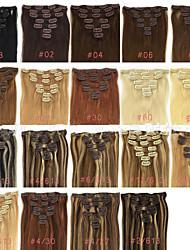 Clip 70g 20 pollici 7pcs nell'estensione dei capelli umani umani dritti molti colori disponibili