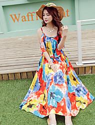 Summer Bohemian Dress Strapless Chiffon Dress Seaside Resort Beach Dress