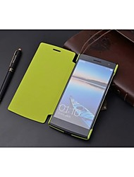 For OPPO Case Flip Case Full Body Case Solid Color Hard PU Leather OPPO
