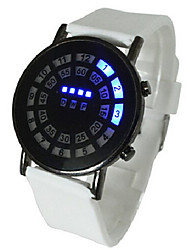 Unisex Watch LED Lights Display Spider Web Ball Silicone Style (Assorted Colors)