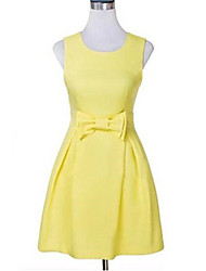 Women's Yellow Dress , Sexy Sleeveless