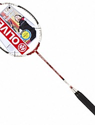 Men/Unisex/Women/Kids Badminton Rackets Low Windage/High Elasticity/Durable Red 2 Pcs Carbon Fiber