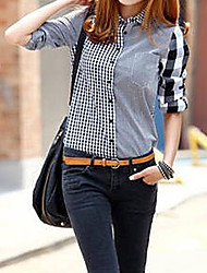 Kvinnors Asymmetrisk Spell Color Plädar tröjor