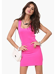 Women's Pink/Yellow Dress , Casual/Party Sleeveless