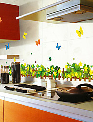 Wall Stickers Wall Decals Style Grassland Butterfly PVC Wall Stickers