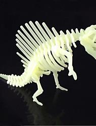 Quebra-cabeças Quebra-Cabeças 3D Blocos de construção DIY Brinquedos Dinossauro ABS Ivory Modelo e Blocos de Construção