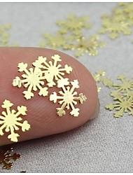 - Finger - Nail Schmuck - Metall - 50 Stück - 7X5X0.2 cm