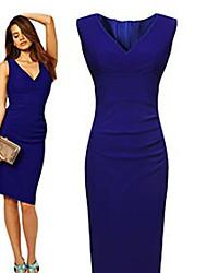 Sexy V-Ausschnitt - Ärmellos - FRAUEN - Kleider ( Baumwolle )