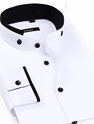 CHINA SIZE New Mens Spring Summer Dress Shirt Chemise Homme Long Sleeve Business Brand Shirt Camisas Masculina Hombre White