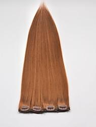 40pcs 100g sedoso extensão do cabelo não processado cabelo peruano reta clips individuais