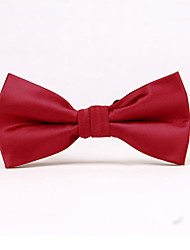Deep Red Solid Color Bow Ties