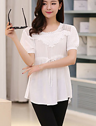 Women's White Blouse Short Sleeve
