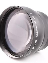 Lente de 58mm 2.2x tele adjunta de propósito general para el canon nikon cámara 58mm calibre puede ser utilizado
