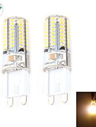 Luci LED Bi-pin 64 SMD 3014 Zweihnder C35 G9 5W Decorativo 450 LM Bianco caldo 2 pezzi AC 220-240 V