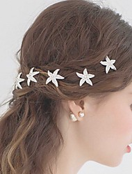 Fashion White Alloy Star Hair pins for Women, Weddding Hair Accessories with Rhinestones for ladies