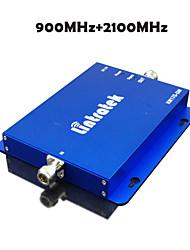 3G W-CDMA + GSM 2G 2100MHz 900MHz double signal de téléphone mobile de bande rappel 900 2100 mobile amplificateur signal de répéteur