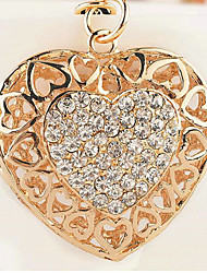 Heart Rhinestone Wedding Keychain Favor