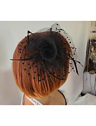 Auriculares Con Micrófono(Negro,Tul / Plumas,Danza del Vientre / Desempeño) -Danza del Vientre / Desempeño- paraMujerCristal floral pin /