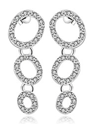 Earring Round Jewelry Women Fashion Wedding / Party / Daily / Casual / Sports Silver Plated 1 pair Silver