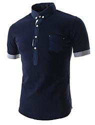 Super Hot Men's Casual Shirt Collar Short Sleeve T-Shirts