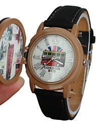 Женский стиль автобус кожаный ремешок кварца наручные часы (разных цветов)