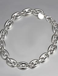 s925 enlace pulsera de plata pulsera pulsera de diseño de moda más caliente de anclaje
